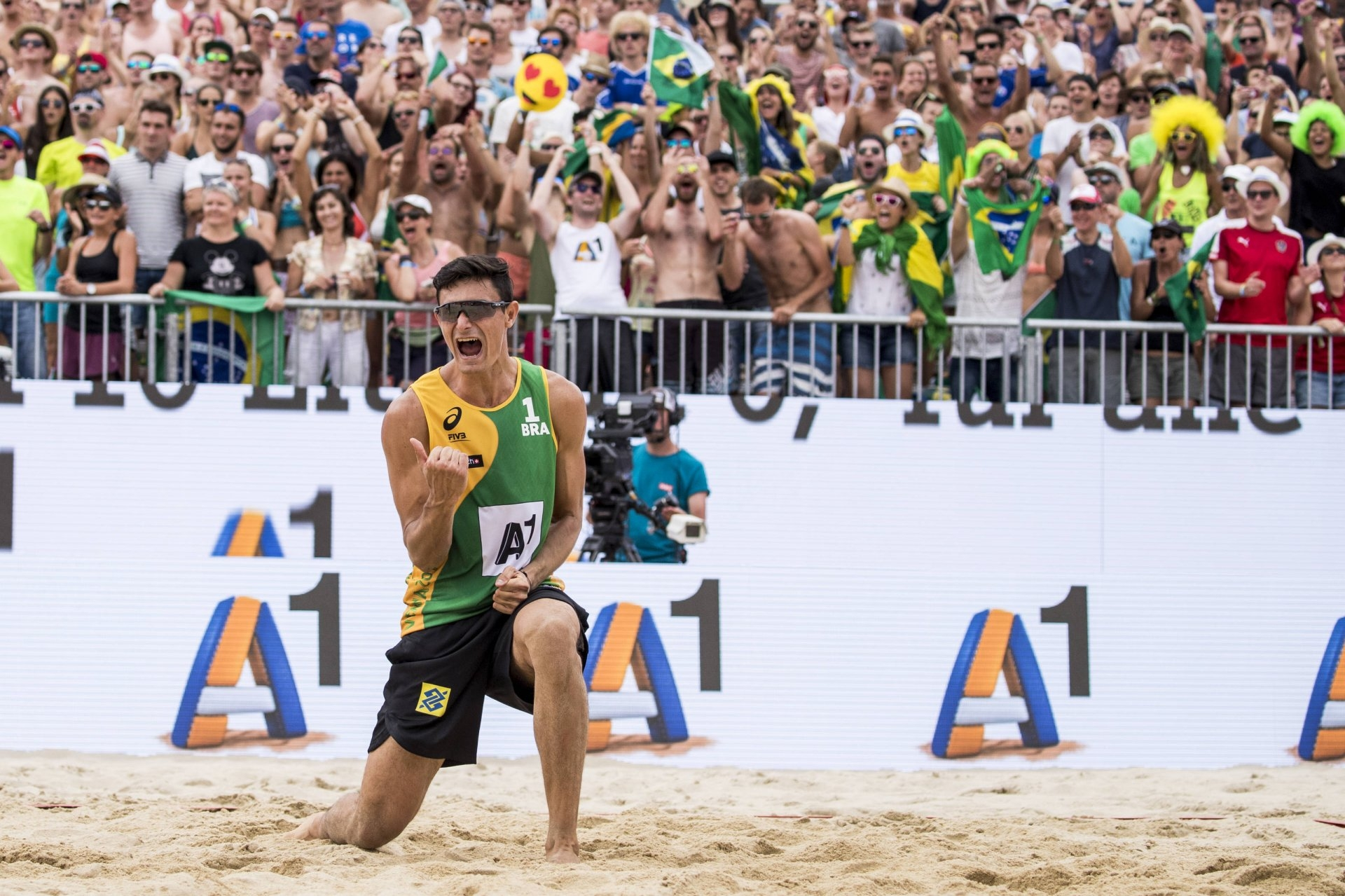 Last season Andre Loyola made history by becoming beach volleyball's youngest world champion