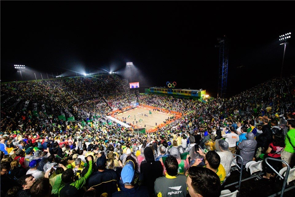 Beach volleyball was part of the Games for the sixth time in Rio 2016 (Photocredit: FIVB)