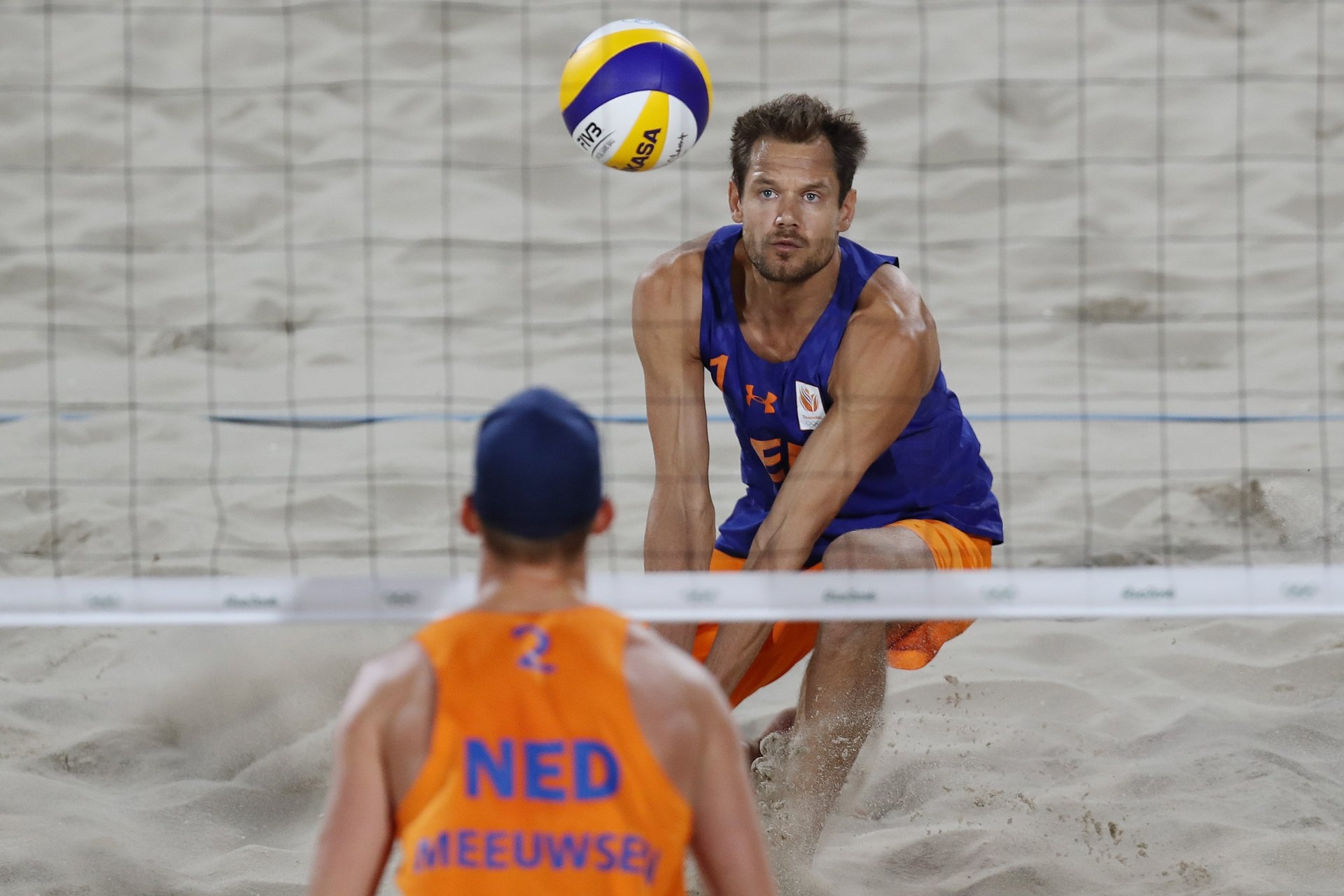 The last match of Nummerdor's playing career was a quarterfinal matchup against compatriots Brouwer and Meeuwsen at the Rio 2016 Games (Photocredit: FIVB)