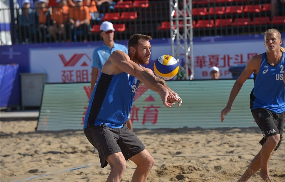 Lee and partner Mark Burik played in their first World Tour event together in China last week (Photocredit: FIVB)