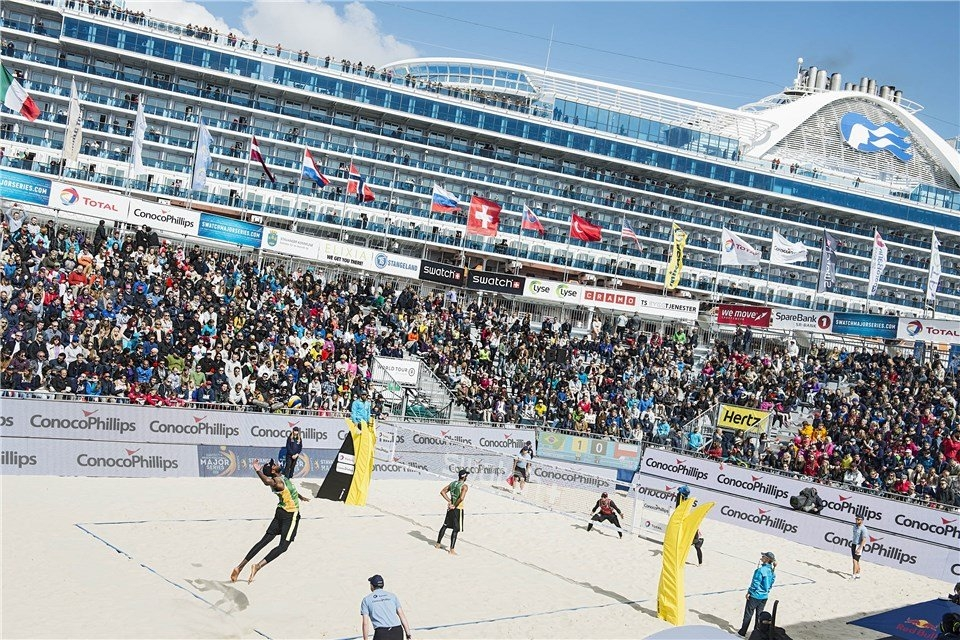 Stavanger was part of the Beach Major Series in 2015 (Photocredit: FIVB)