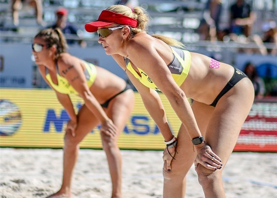 Kerri Walsh and Brooke Sweat have started their partnership at home soil (Photocredit: FIVB)
