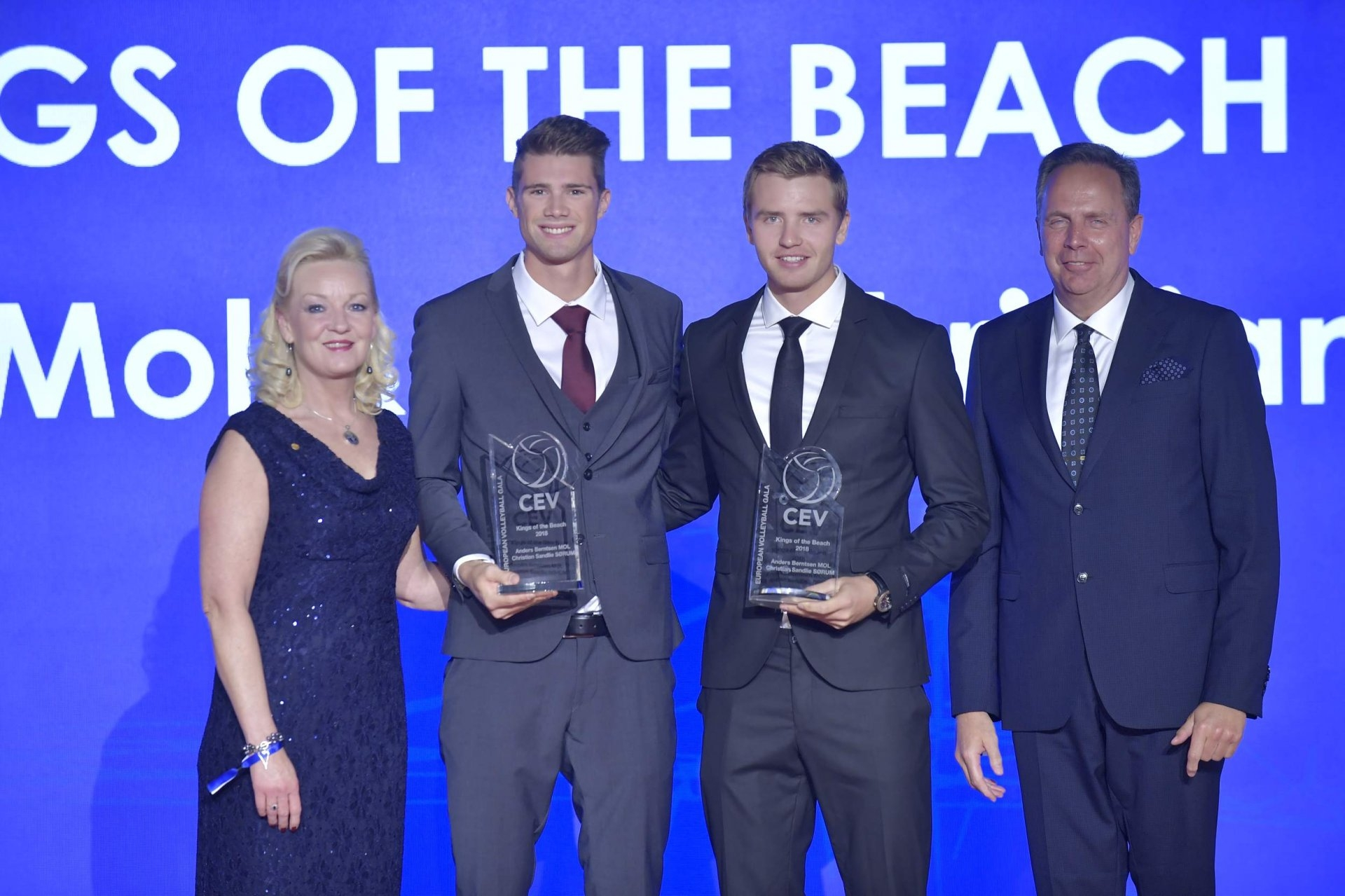 Mol and Sørum took home another trophy after the CEV Gala (Photocredit: CEV)