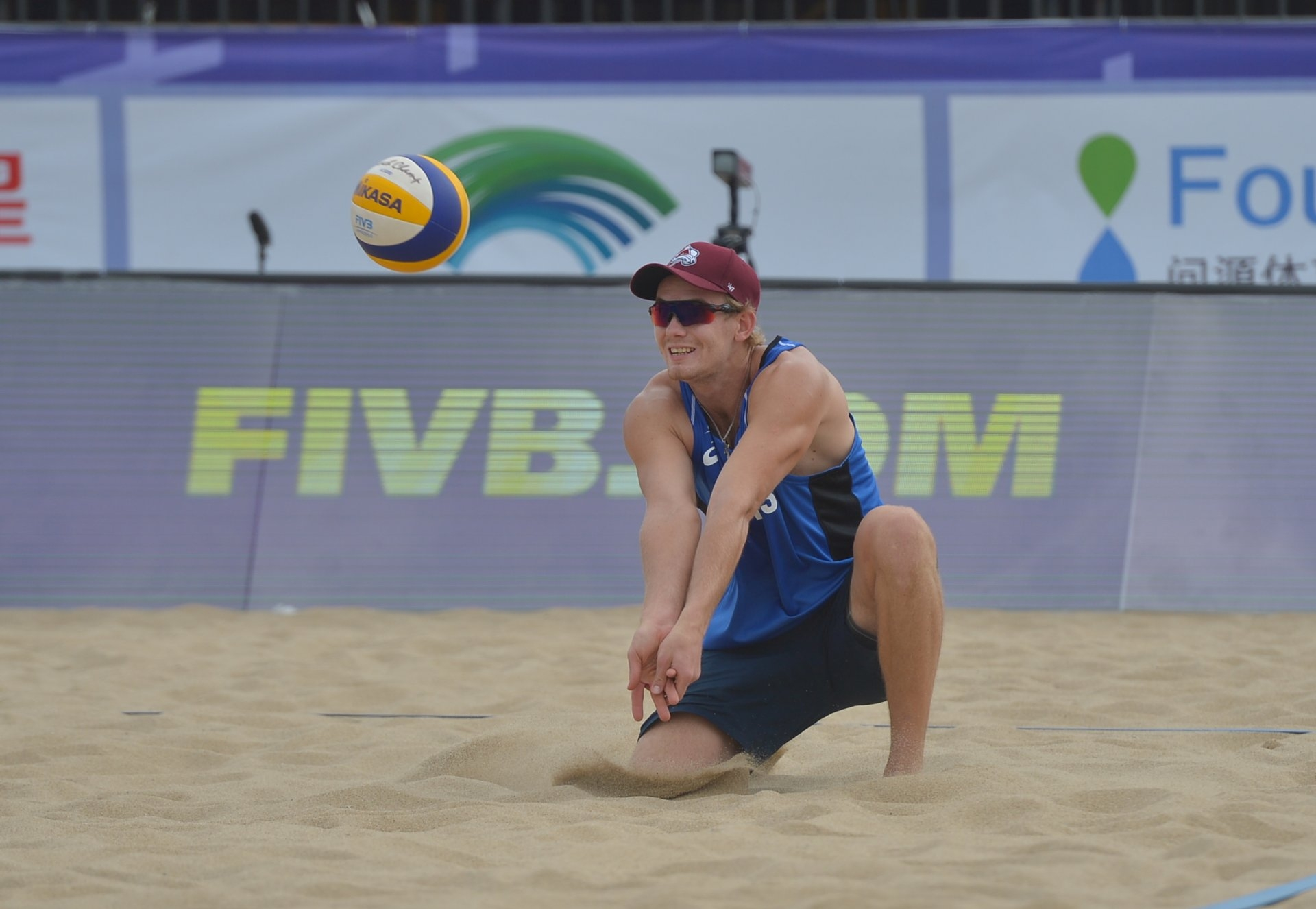 Leshukov was chosen to be Semenov's partner when he returned to beach volleyball (Photocredit: FIVB)