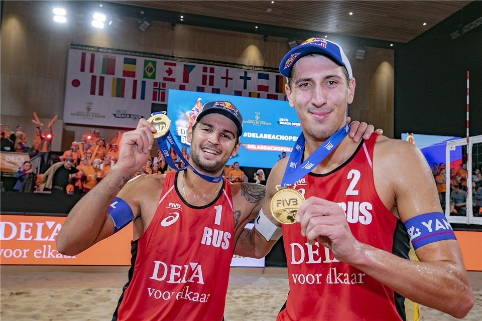 Krasilnikov and Stoyanovskiy have won 16 of their 18 first matches together (Photocredit: FIVB)