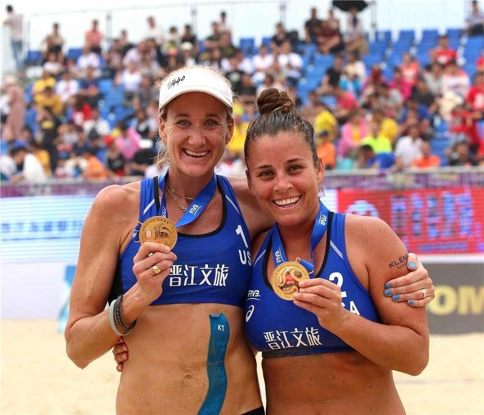 Walsh Jennings and Sweat won their first tournament together (Photocredit: FIVB)