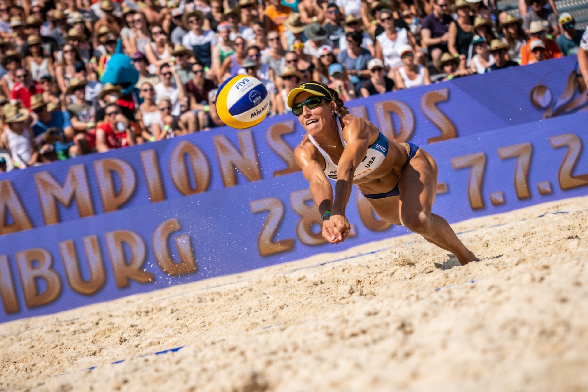 Emily Stockman and partner Kelley Larsen will compete this weekend at the American AVP