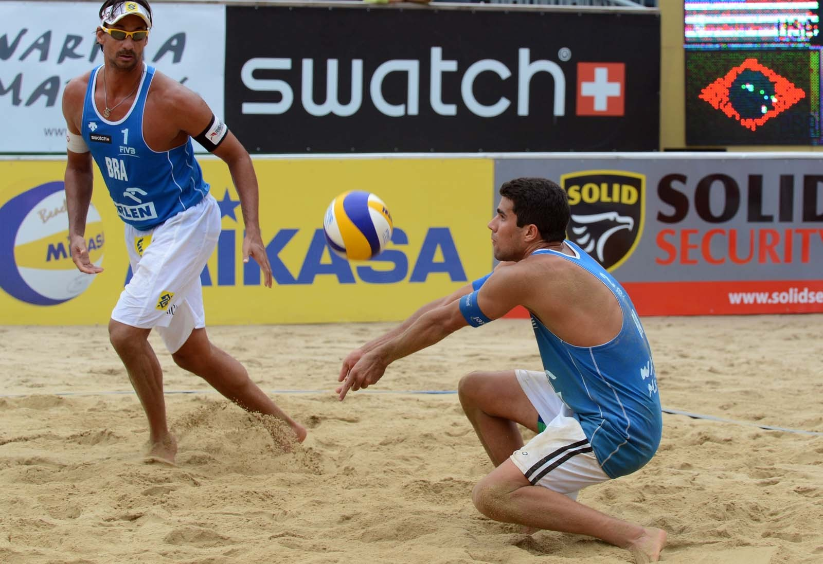 Vitor and Ricardo played together in a World Tour event in Poland in 2012 (Photocredit: FIVB)