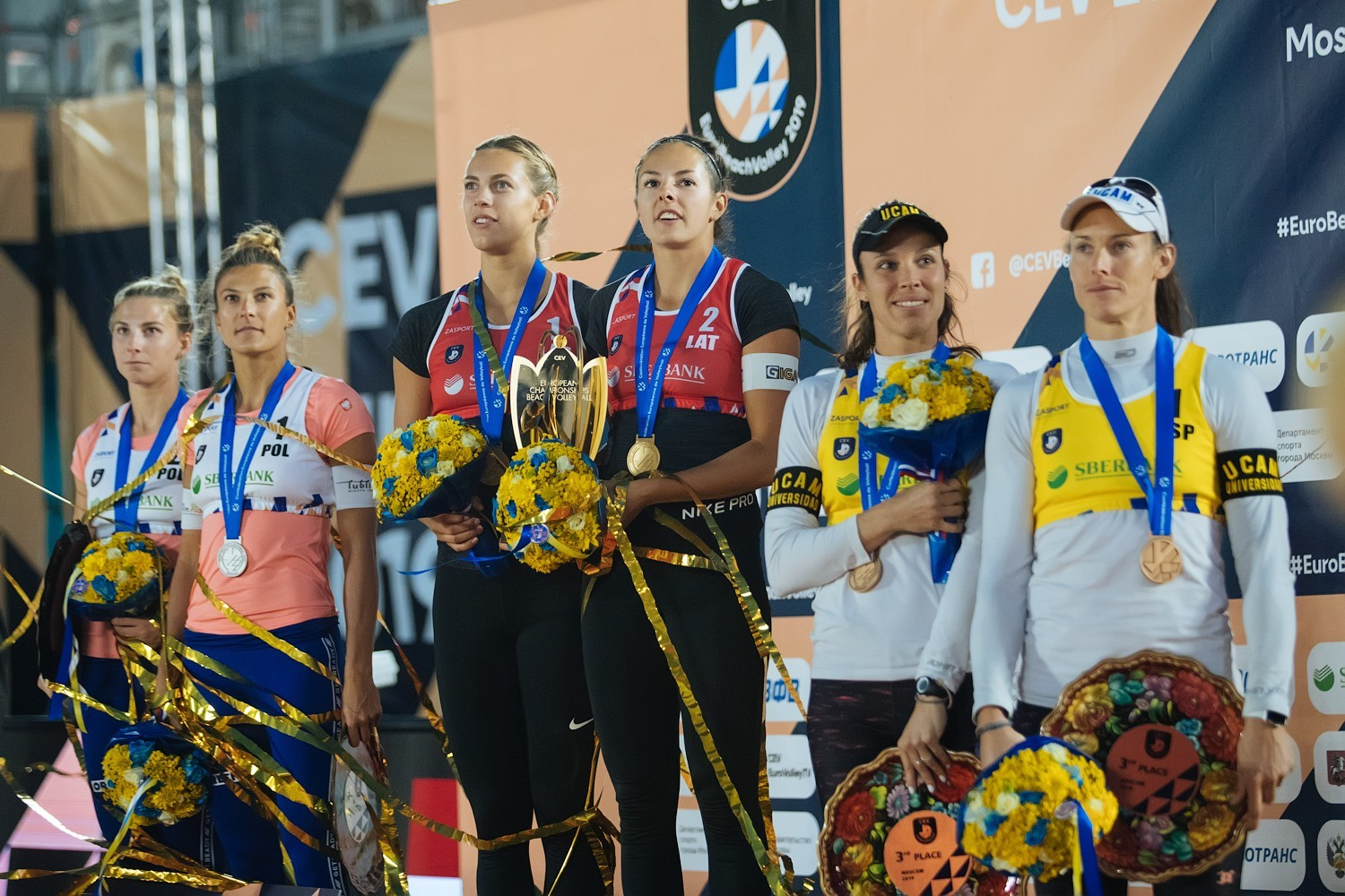 The medalists of the European Championships (Photocredit: CEV)
