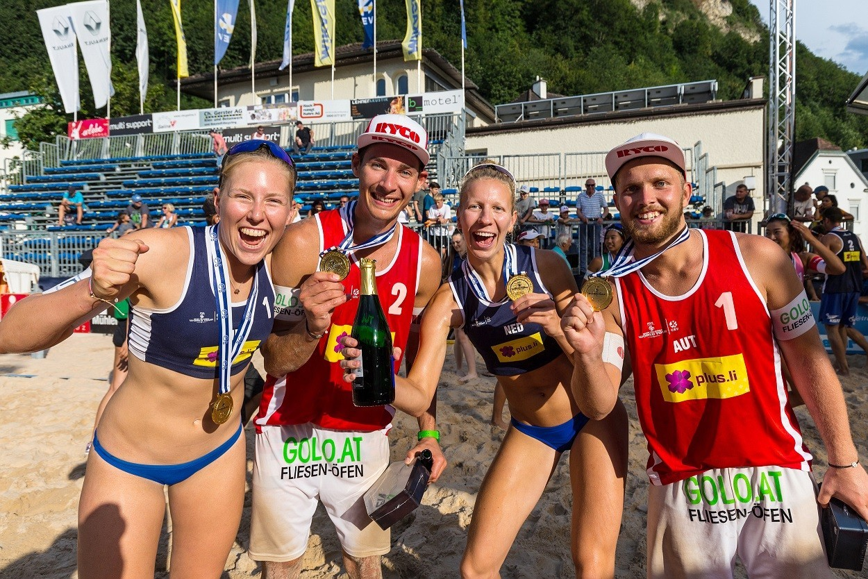 Teams from the Netherlands and Austria took the gold medals in Vaduz (Photocredit: FIVB)