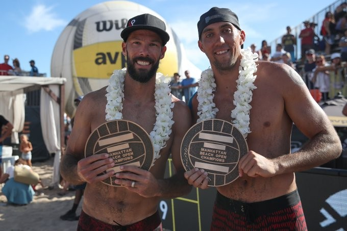 Priddy and Crabb won the first tournament they played together (Photocredit: AVP)