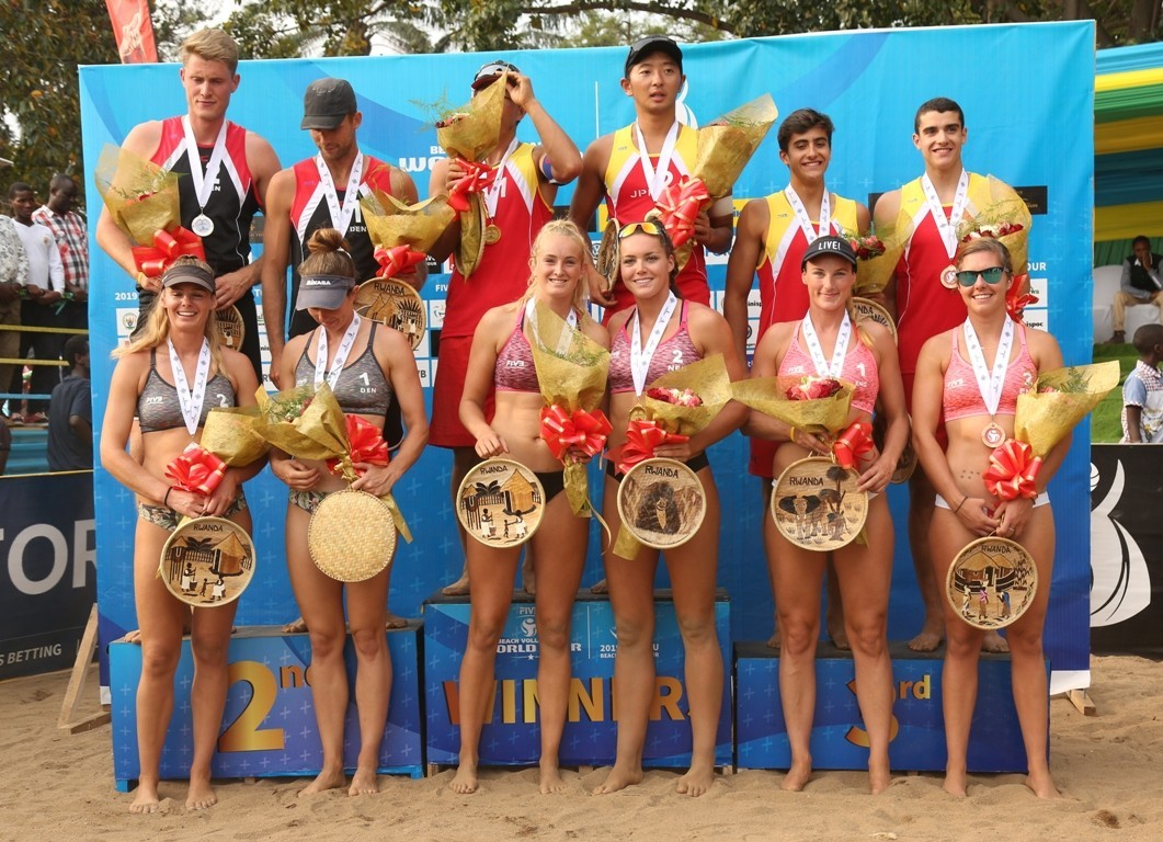 Teams from Japan and the Netherlands triumphed in Rwanda (Photocredit: FIVB)