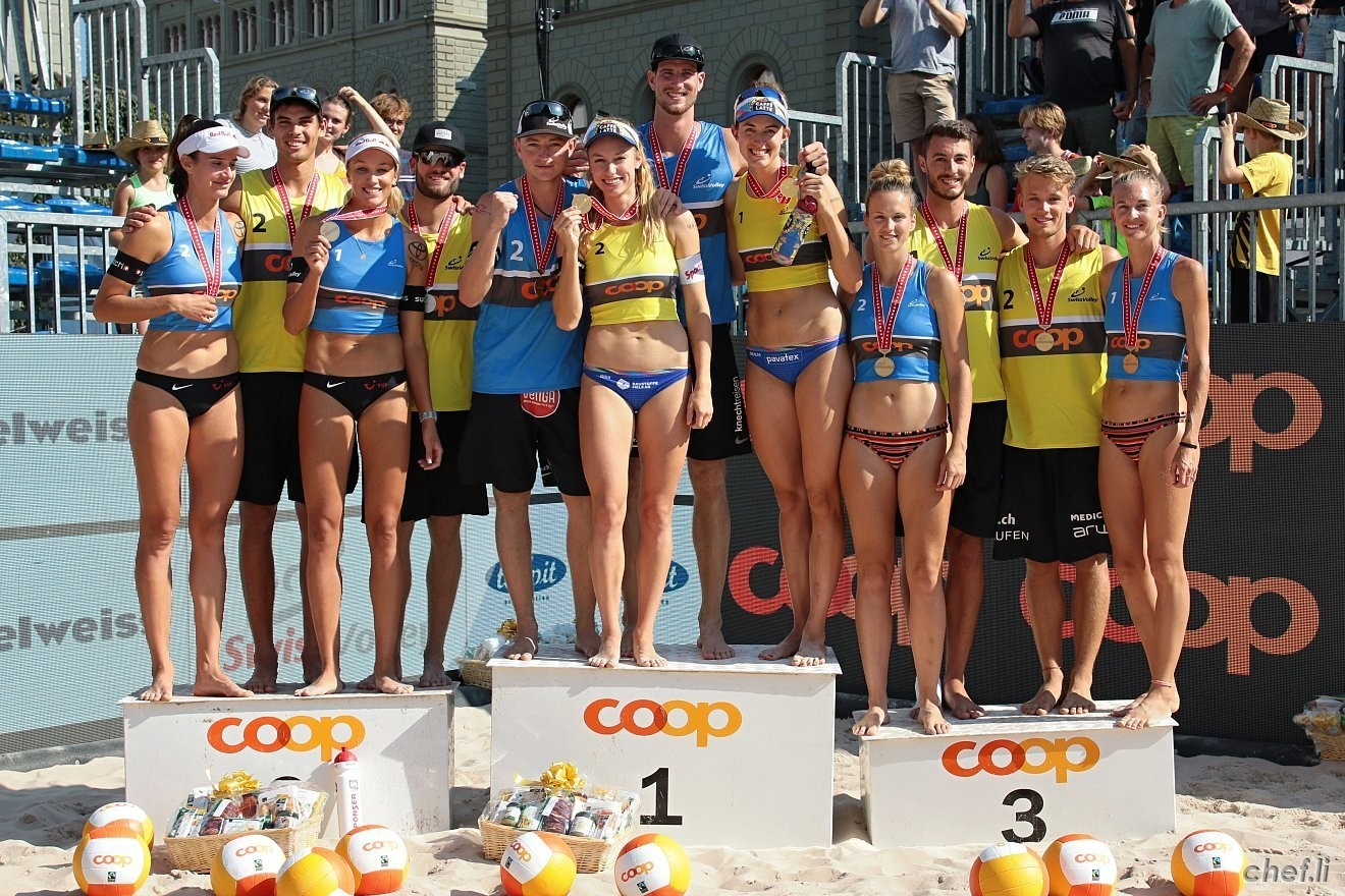 The medal winners in Bern (Photocredit: Coop Beach Tour)