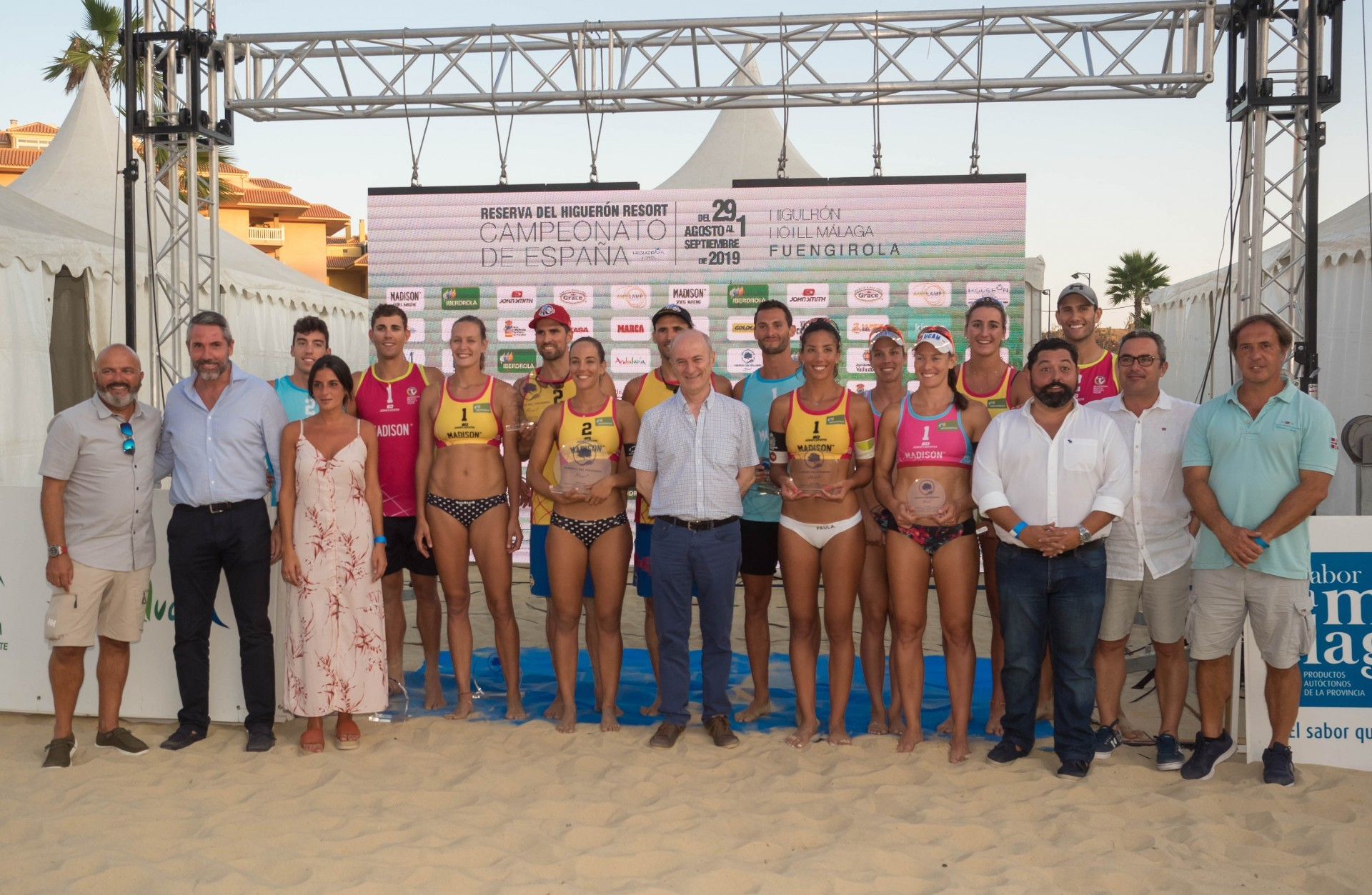 Six teams won medals at the Spanish Championships (Photocredit: RFEVB)