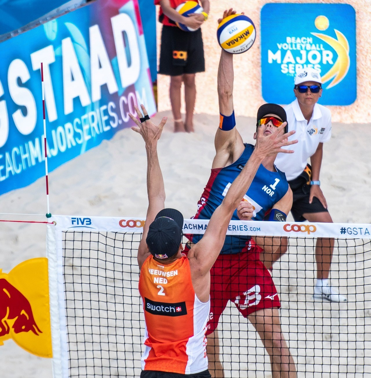 Mol enjoyed a couple of spikes he had against Brouwer and Meeuwsen in Gstaad