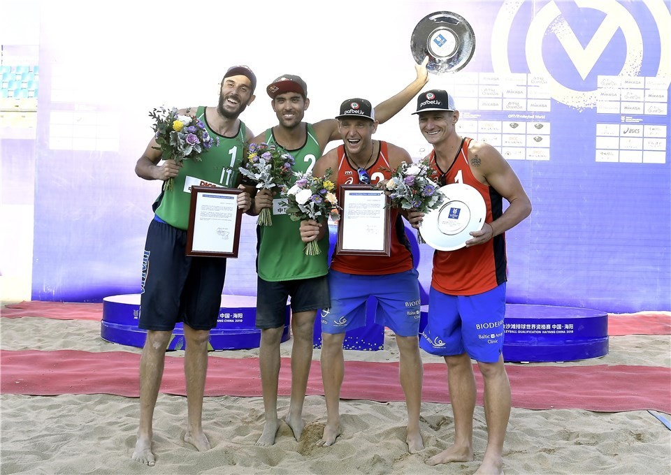 Italians and Latvians have qualified to the Tokyo Olympics (Photocredit: FIVB)