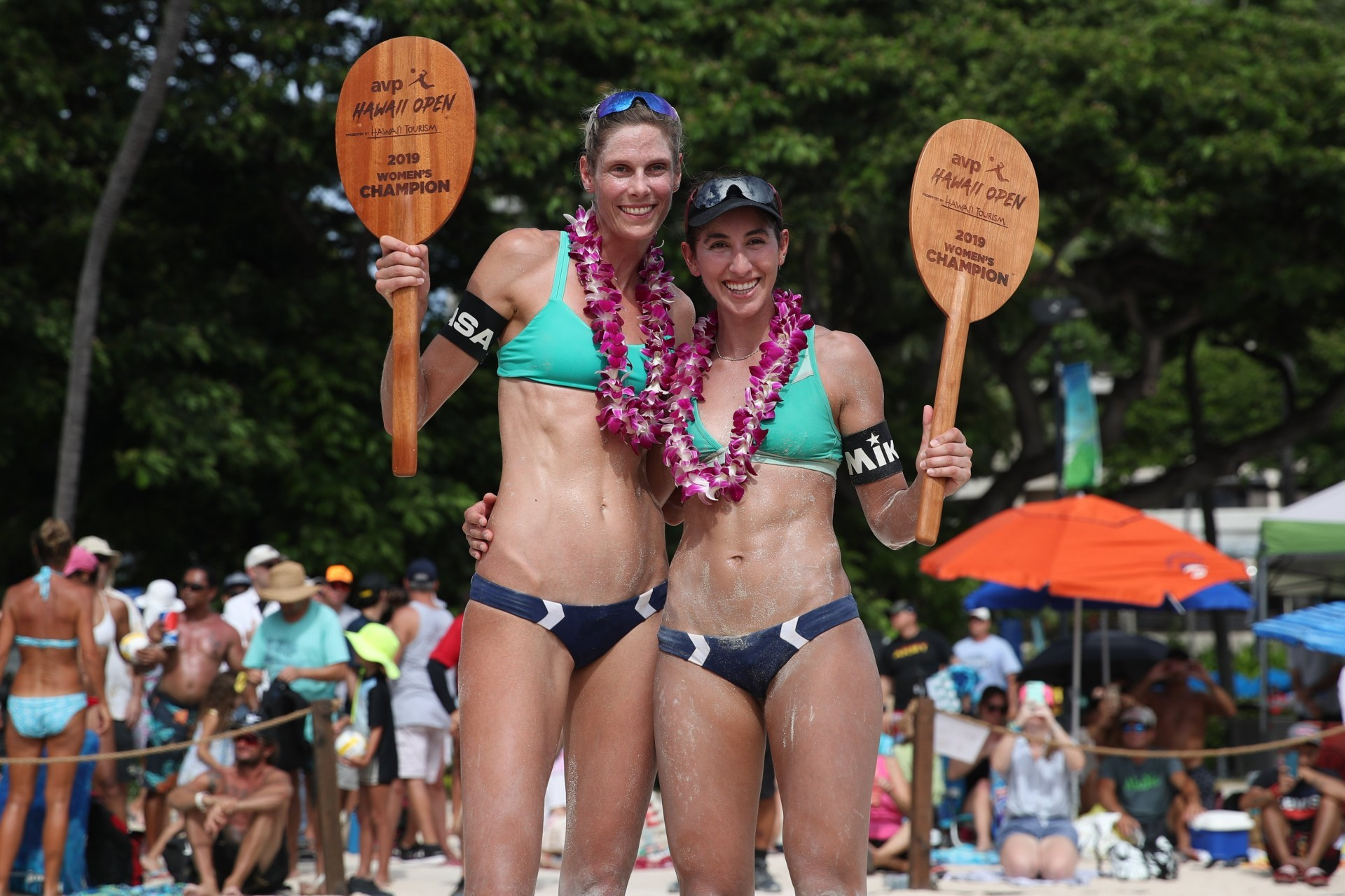 Sarah and Melissa won their fifth and last gold medal of 2019 in Hawaii (Photocredit: AVP)