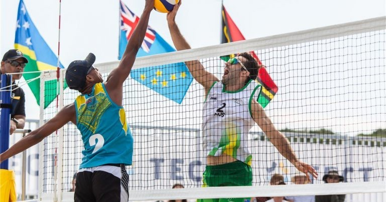 Australia and Tuvalu compete during the Asian Continental Cup in New Zealand