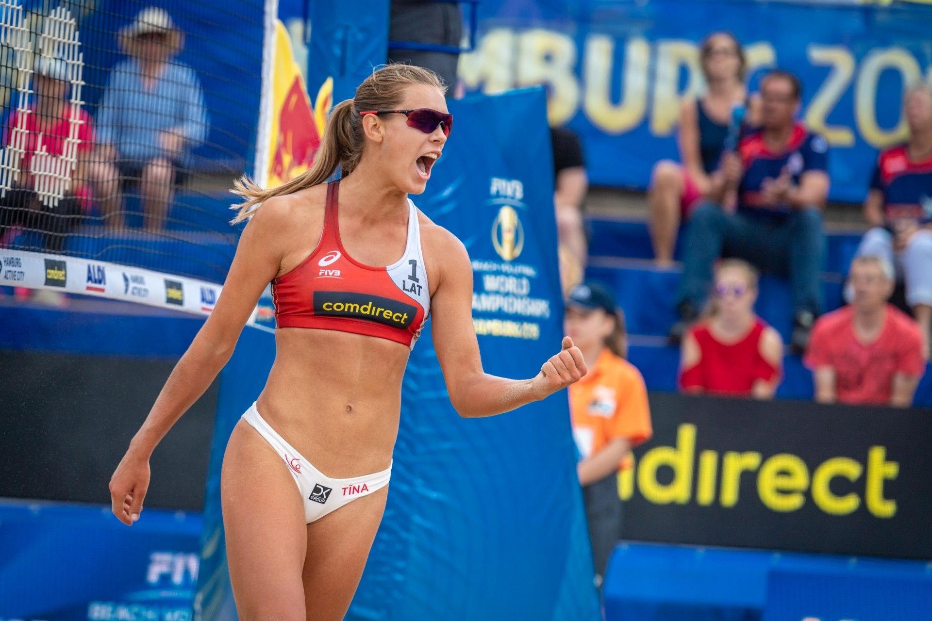 A rising star in the World Tour, Graudina plays for USC in the United States