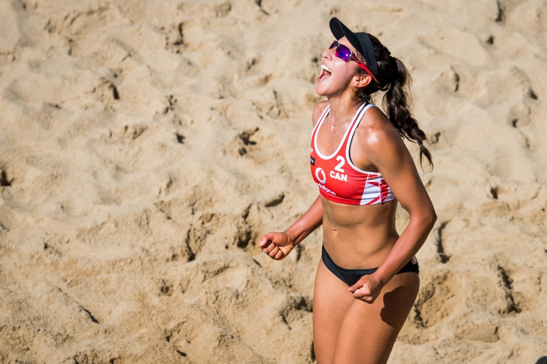 World number one Melissa Humana-Paredes says the fan engagement and music of the DJs is good for beach volleybal