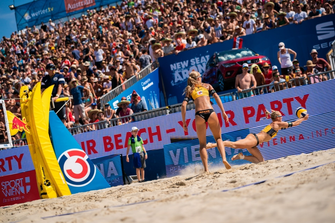 Beach volleyball rule number one: don't let the ball touch the sand!