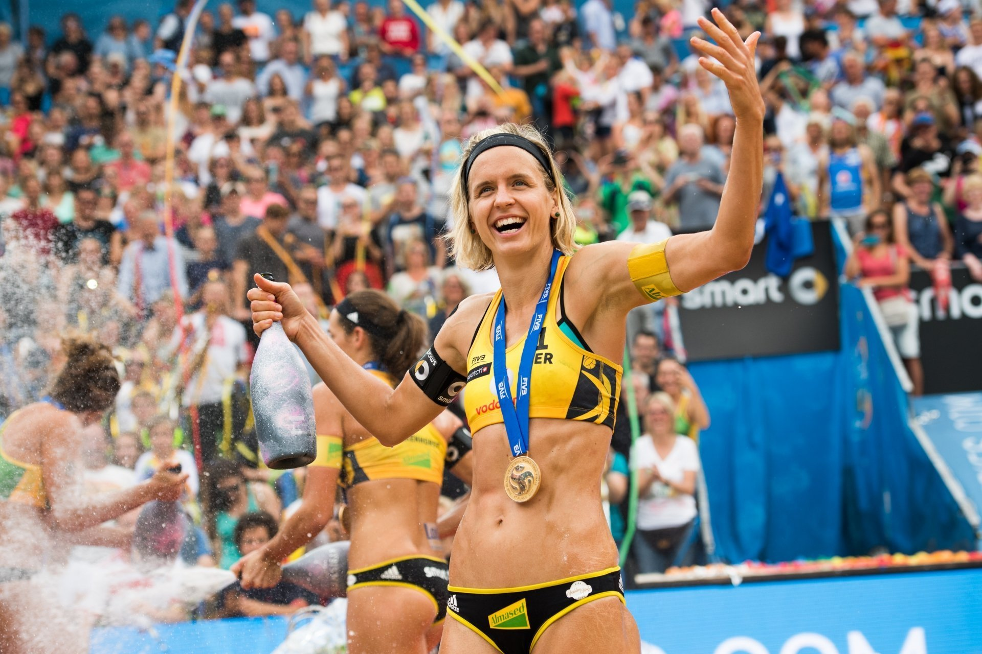 Reigning World and Olympic champion Laura Ludwig makes her first return to beach volleyball in 20 months in Xiamen