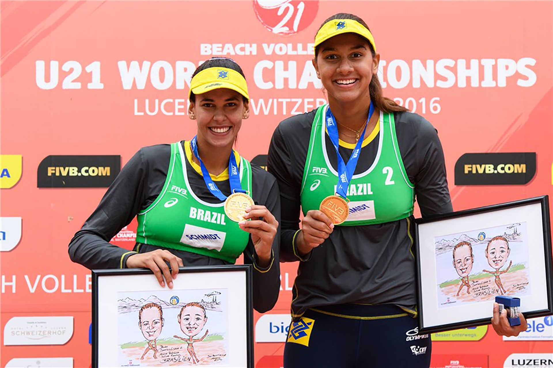 Eduarda Santos Lisboa and Ana Patrícia Silva Ramos made it two golds out of two for Brazil at the Under-21 World Championships. Photo credit: FIVB.