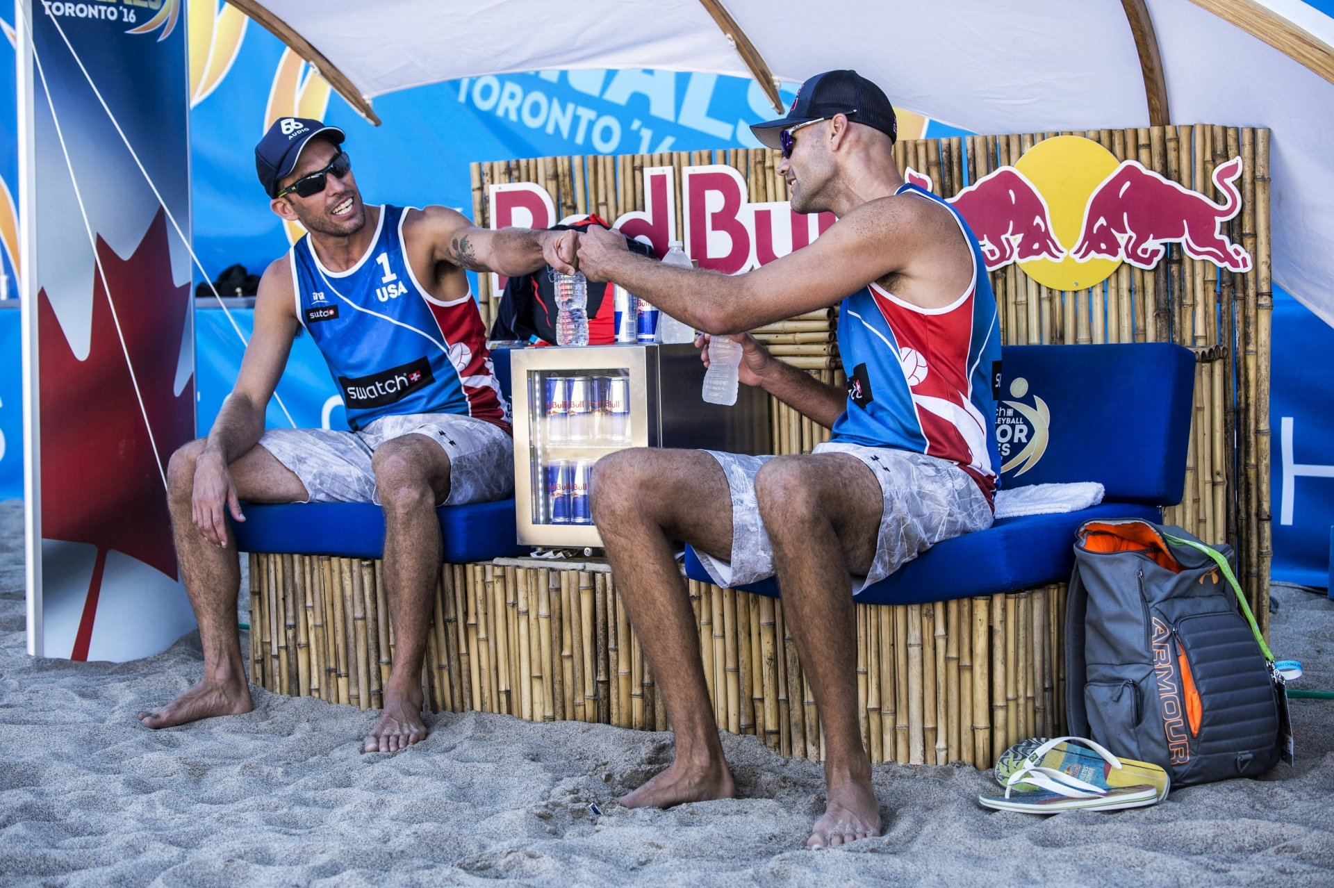 Americans Nick Lucena (left) and Phil Dalhausser (right)