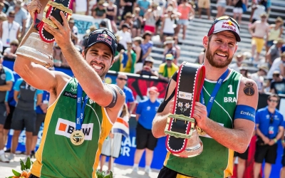 Brazilian Beach Circuit stopped over in Bauru - Alison/Bruno Schmidt won bronze