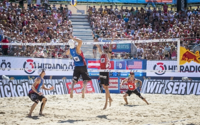 Americans gunning for gold on Canadian sand