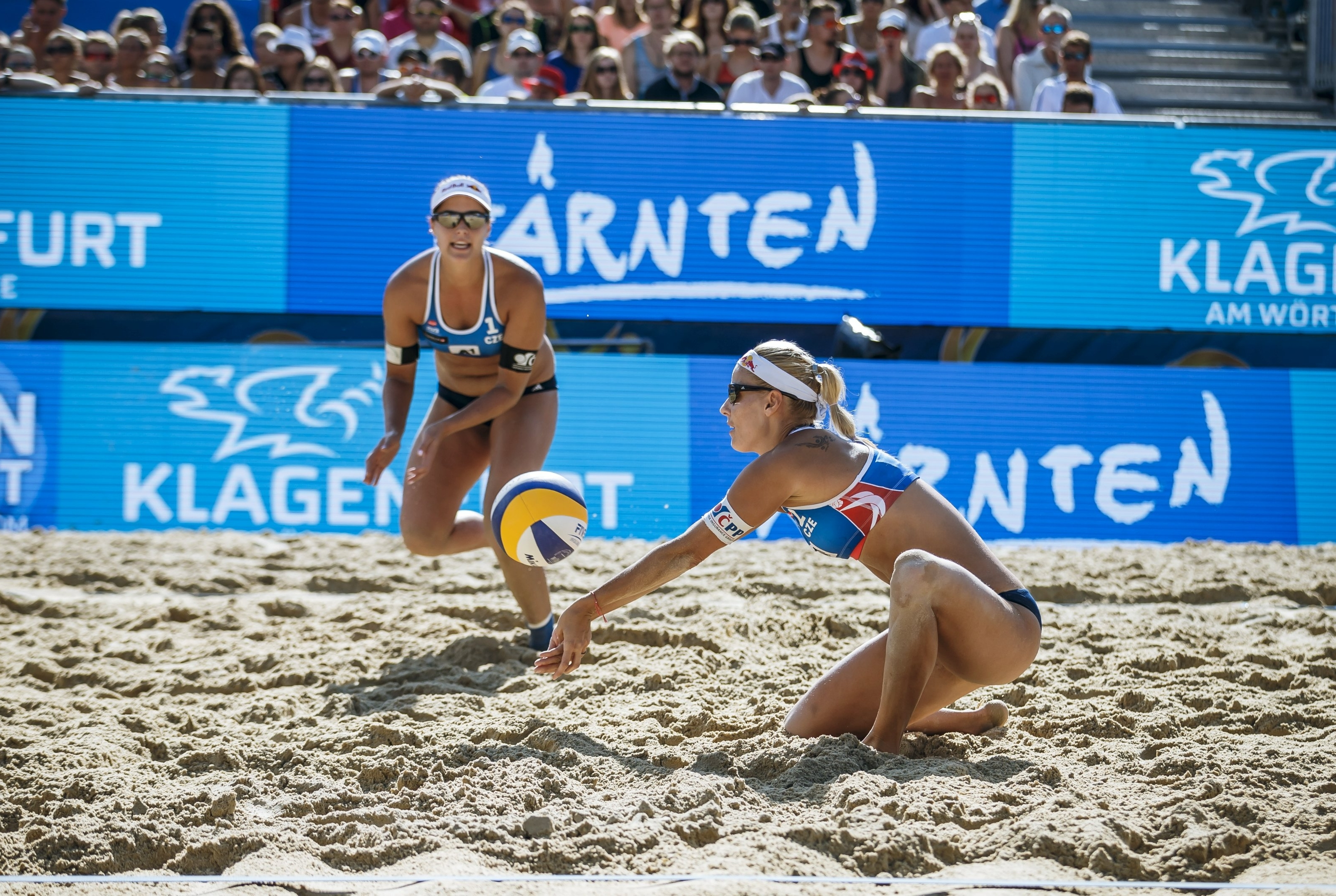 Barbora Hermannova and Marketa Slukova reigned supreme on home sand at the weekend. Photocredit: Martin Steinthaler.