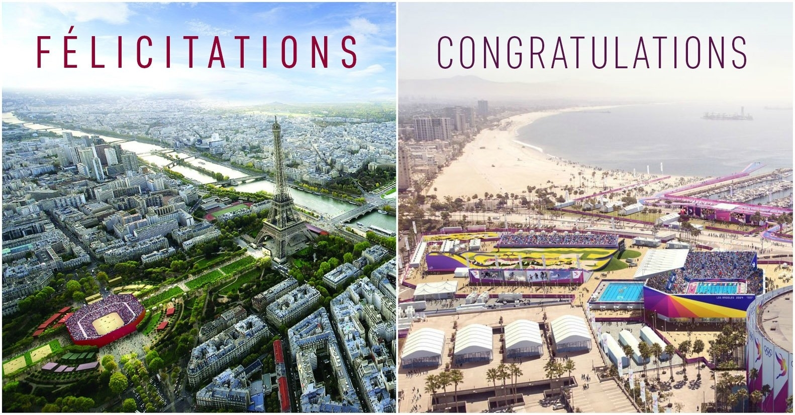 Paris will host the 2024 Olympic Games, with Los Angeles following suit four years later in 2028