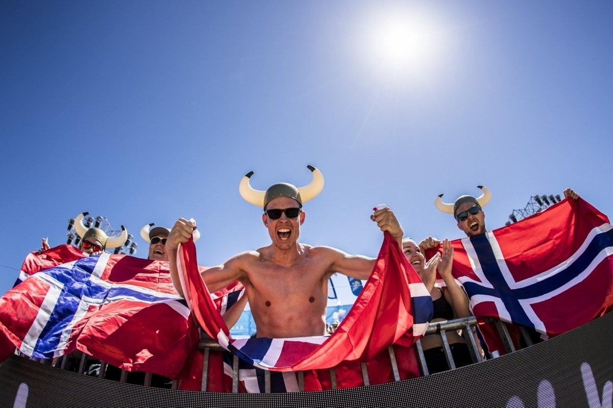 There is plenty of support for the Beach Volleyball Vikings on the World Tour