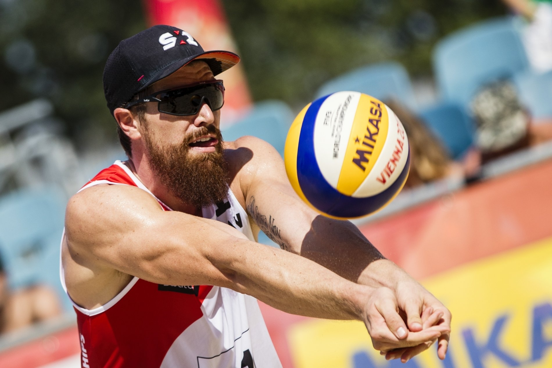 Sam keeps his eyes on the ball during the World Champs - he and Schachter finished ninth