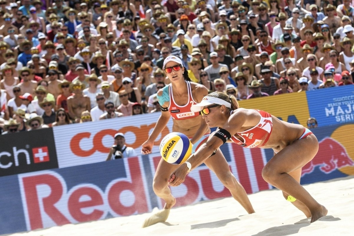 Swiss eyes watch on as Anouk and Jo compete on home sand in Gstaad