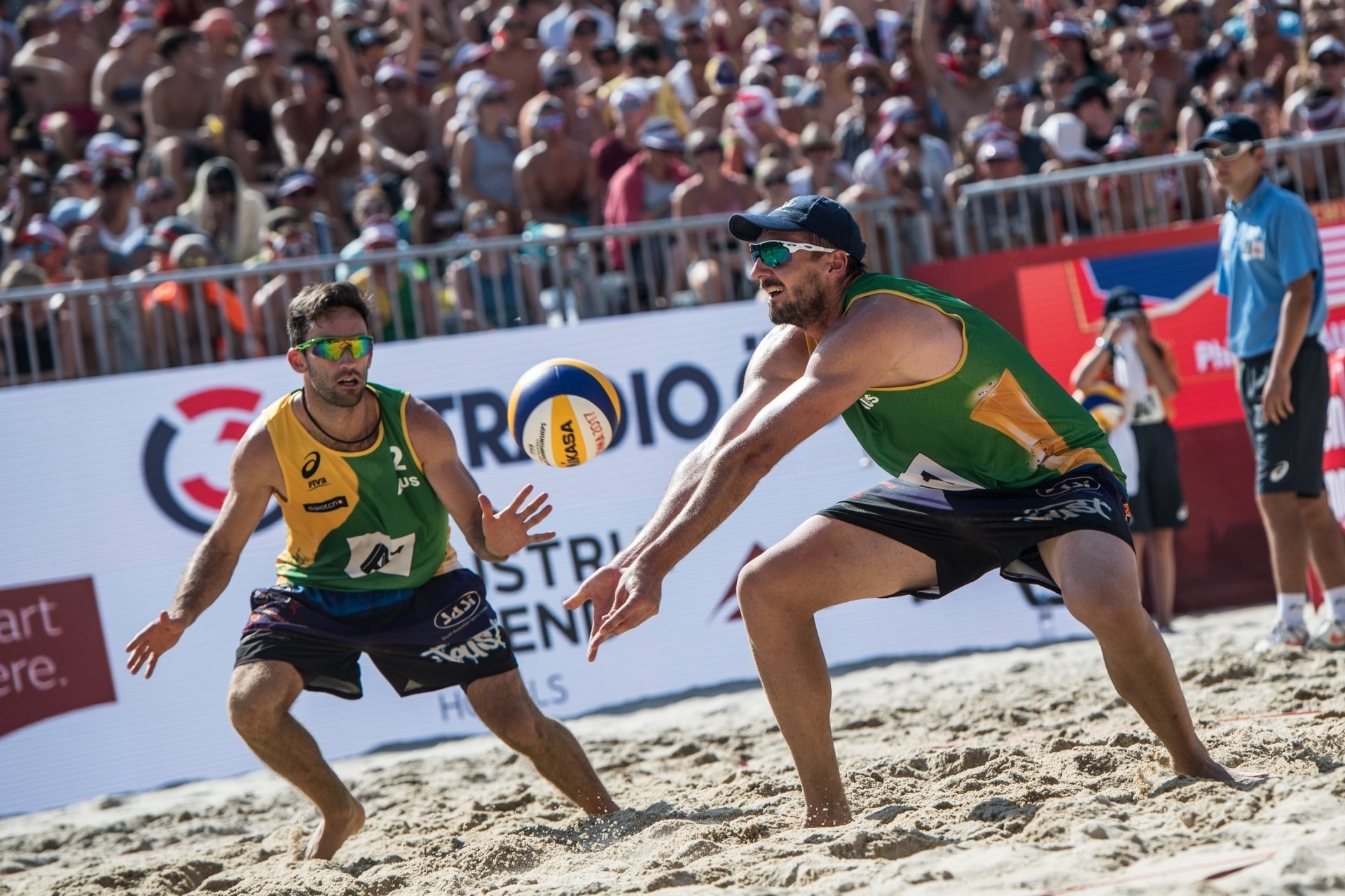 Damien Schumann (left) and Chris McHugh are Australia's big hopes at Gold Coast