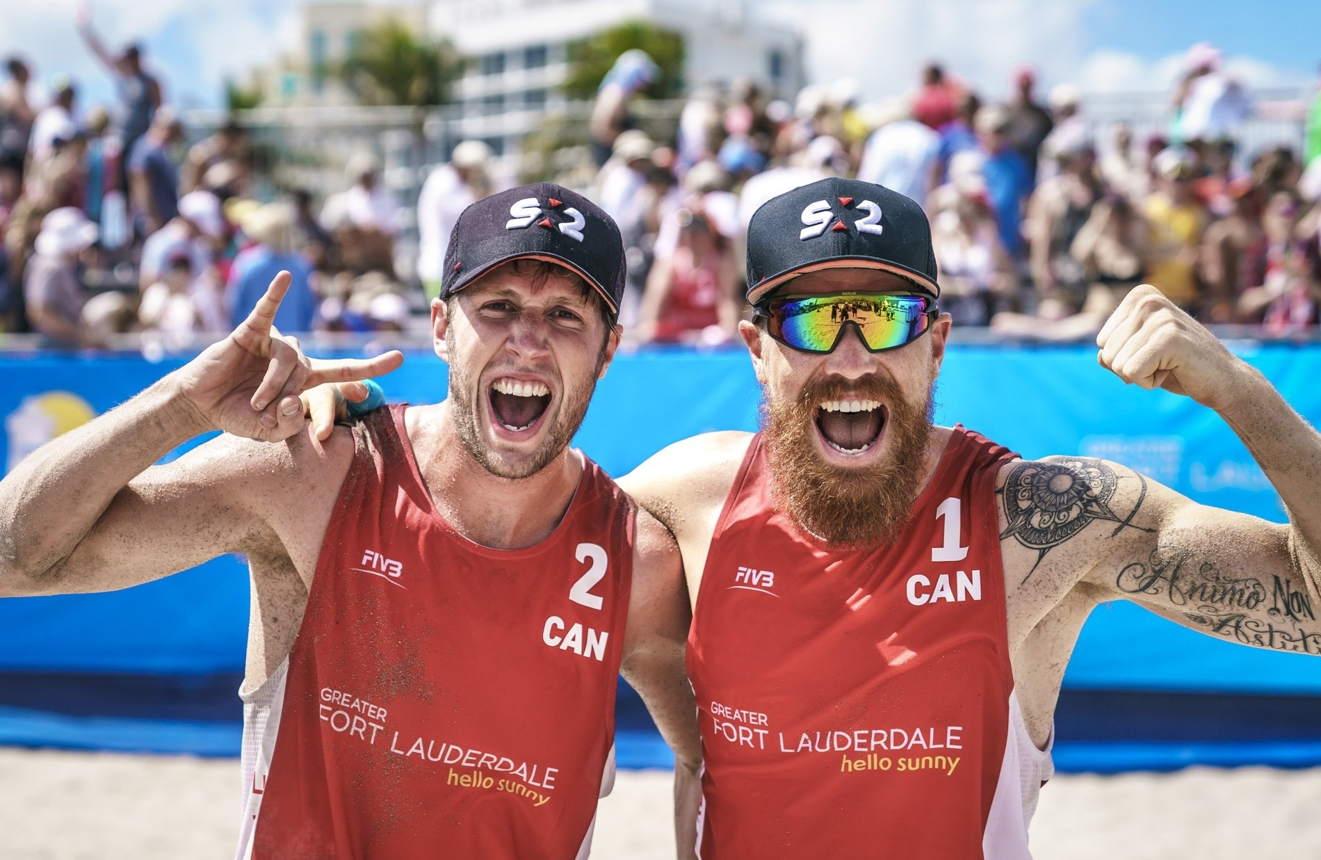 Sams Schachter (left) and Pedlow are flying the flag for Canada at the Commonwealth Games