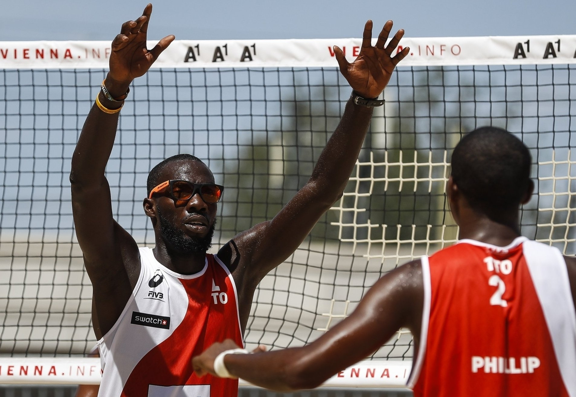 Trinidad and Tobago's Daneil Williams (left) says his relationship with his Caribbean rivals is like brotherly love