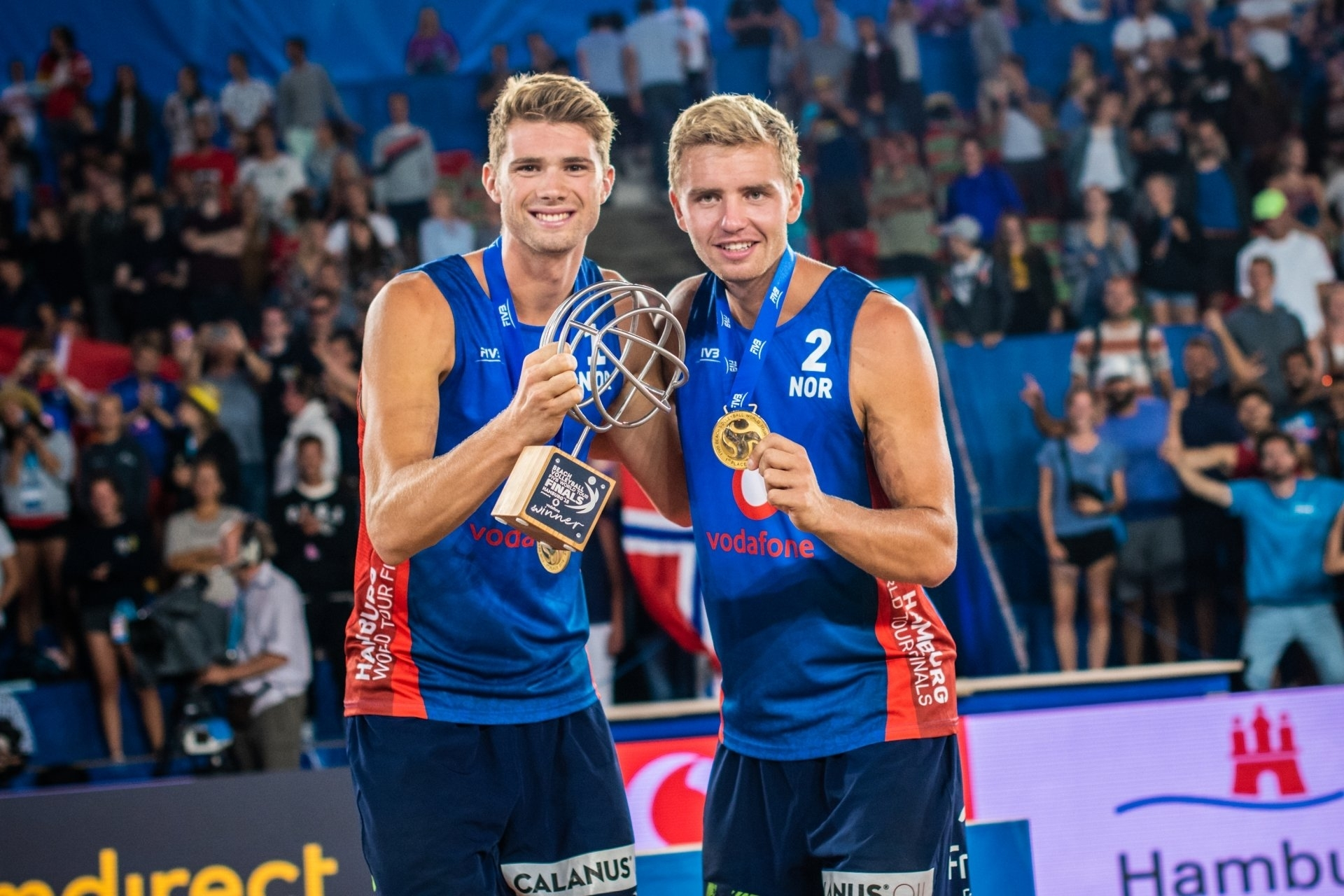 Anders and Christian celebrate their World Tour Finals gold