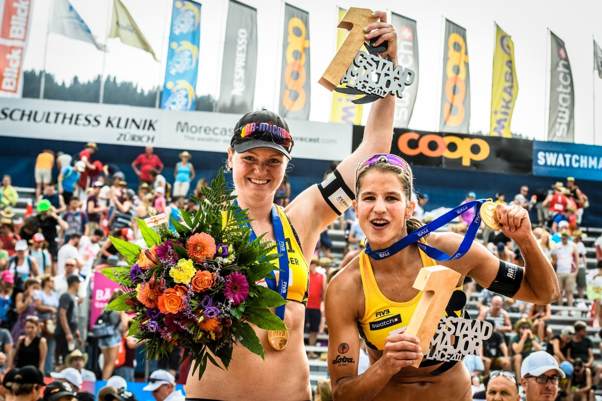 Julia and Chantal won the Gstaad Major in 2017