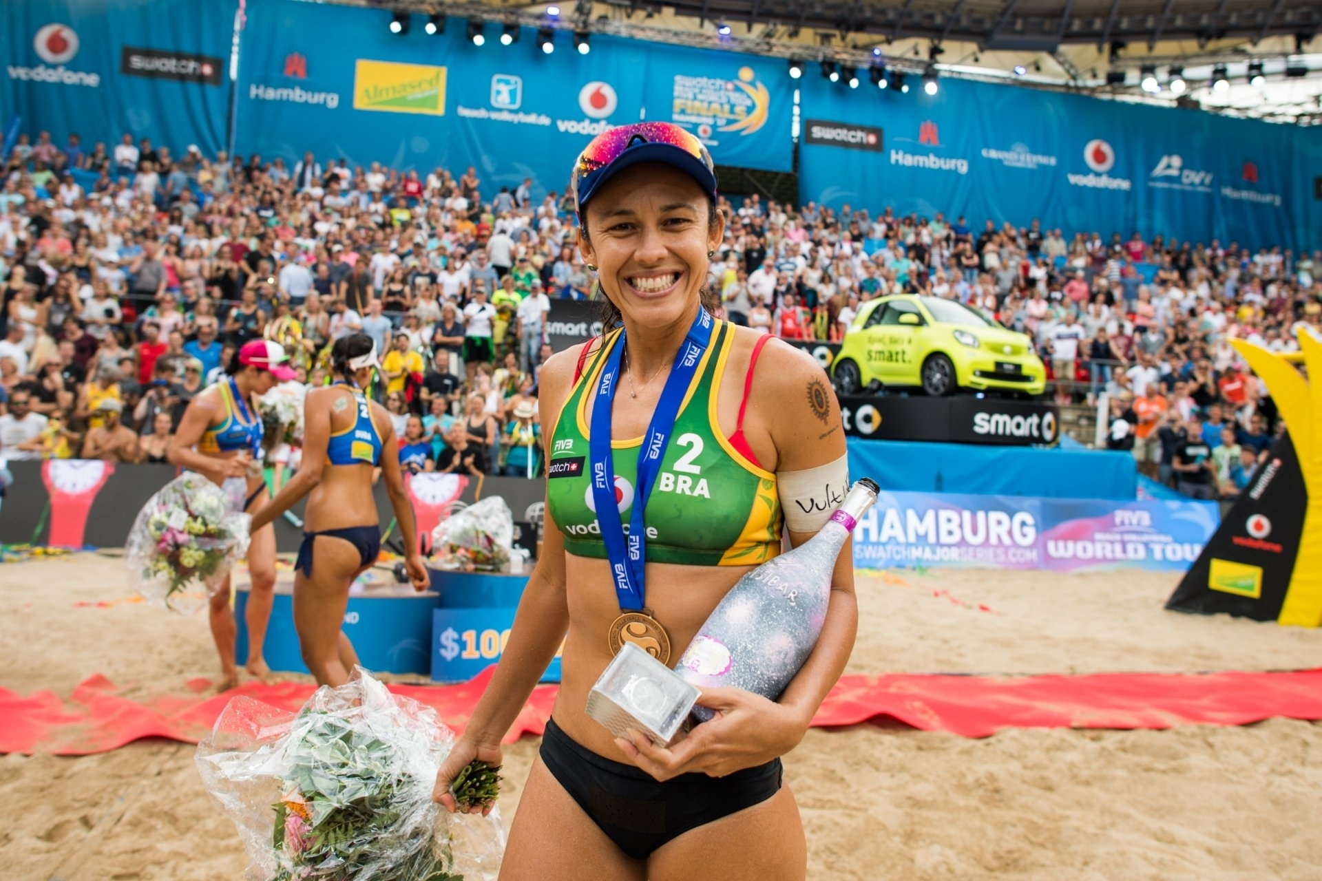 Talita all smiles after winning bronze at the World Tour Finals last year in Hamburg