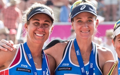 April and Kerri on the hunt for another medal in Canada