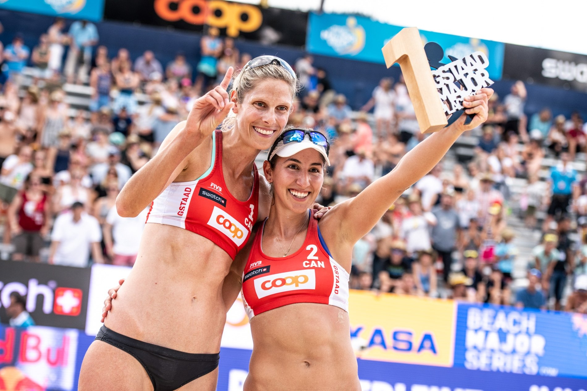 Gstaad Major winners Sarah Pavan and Melissa Humana-Paredes will compete at Huntington Beach this weekend