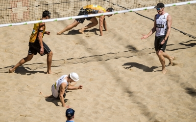 The Germans seal Olympic place on German sand!