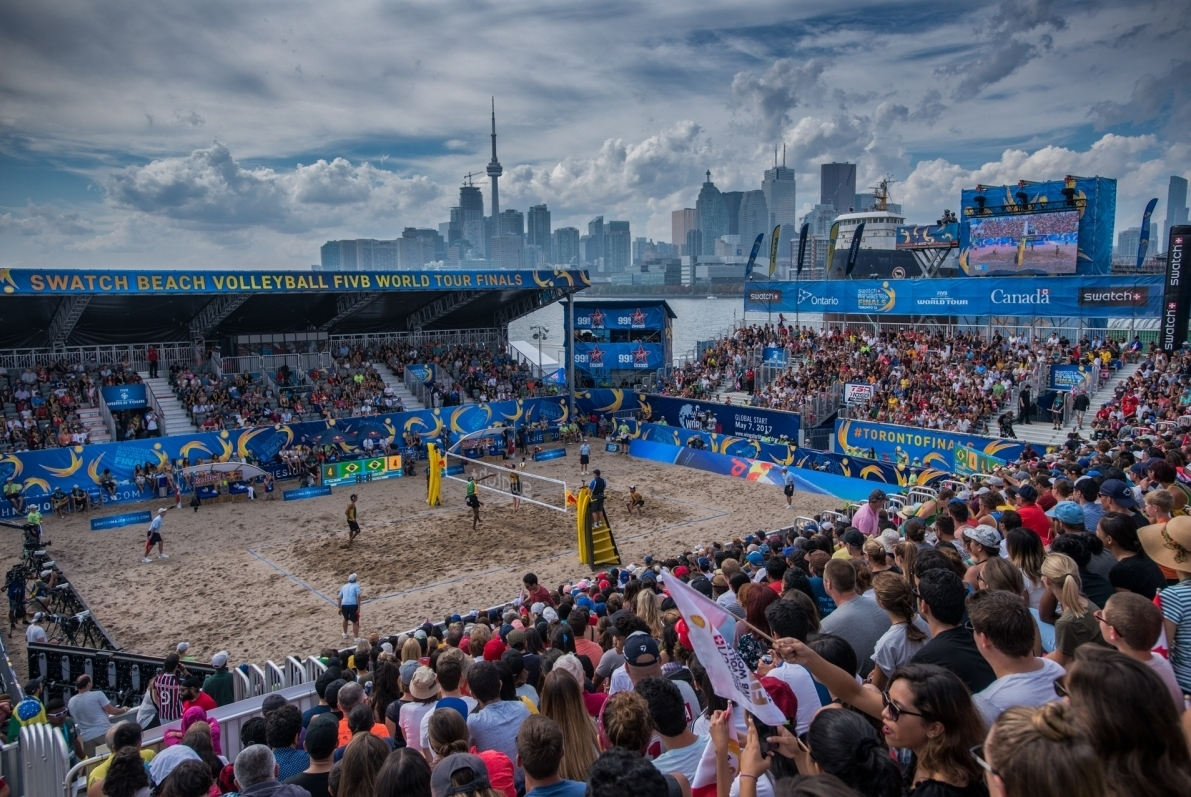 The 2016 beach volleyball season ended in style in Toronto, Canada. Photocredit: Bernhard Horst.
