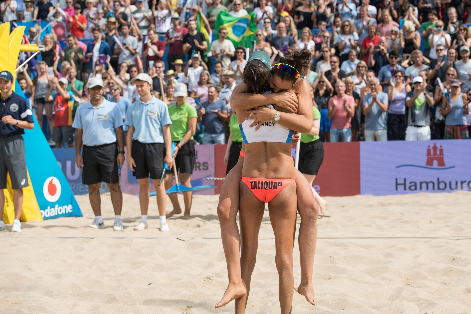 The moment the bronze medal was captured at the Red Bull Beach Arena
