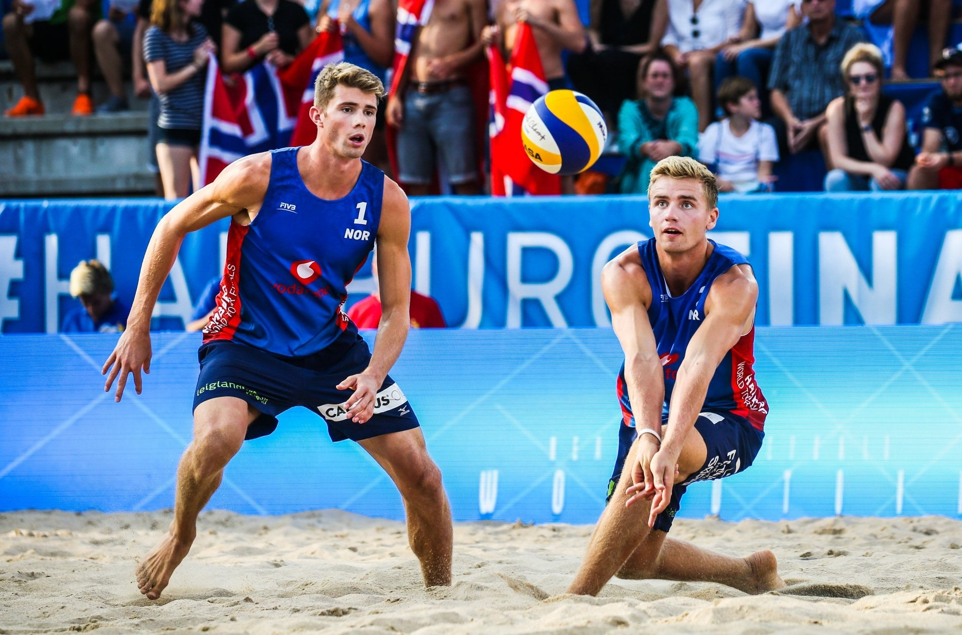 Anders and Christian in action on their way to gold at the Hamburg Finals