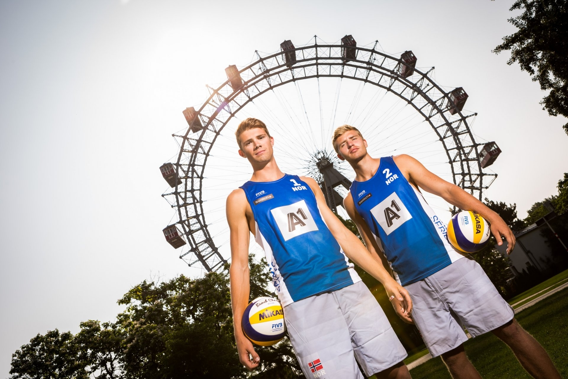 The Beach Volley Vikings conquered Vienna's Riesenrad - and the Red Bull Beach Arena in the same city