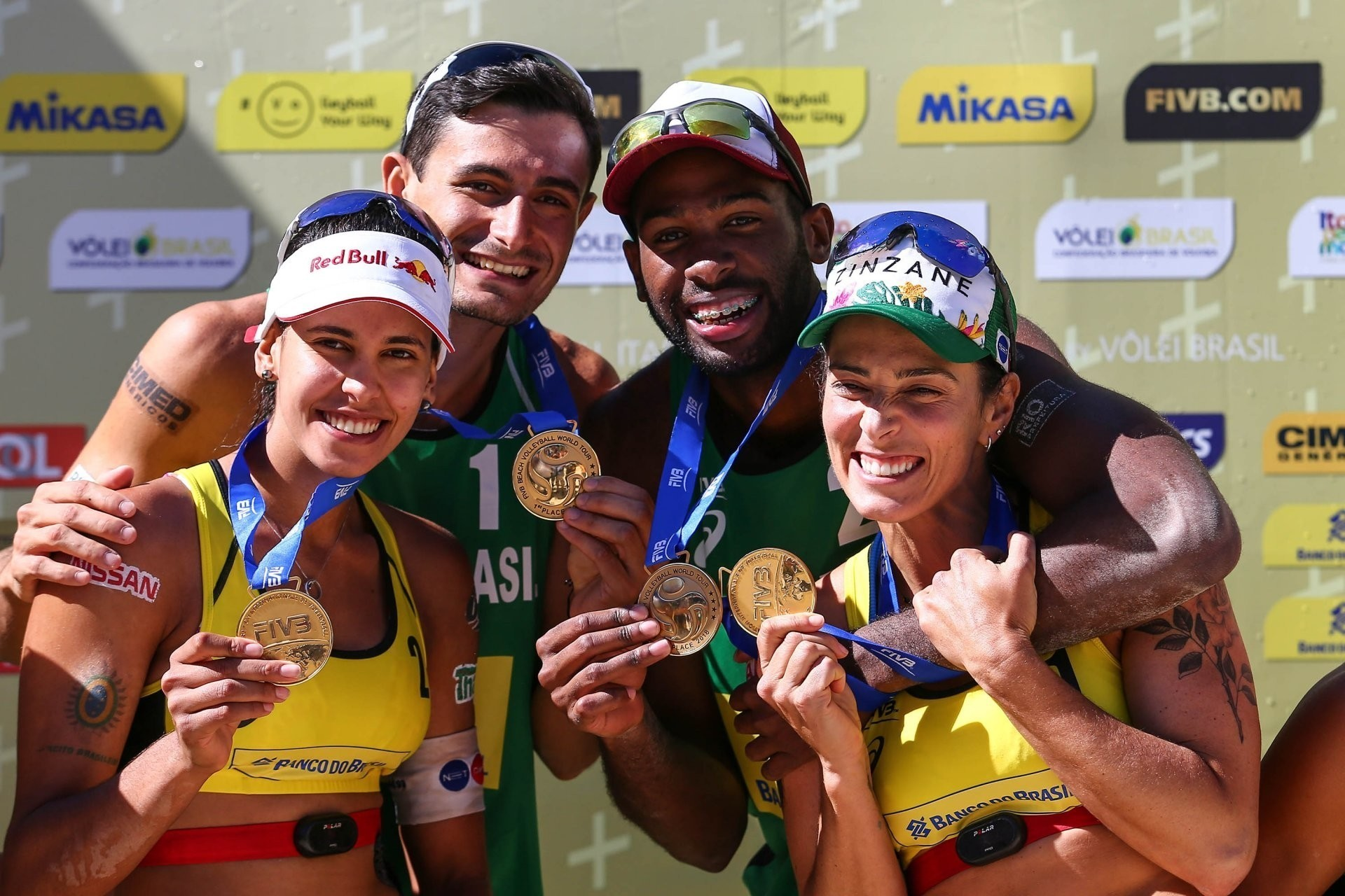 The winners of Itapema in 2018 - Barbara and Duda and Evandro and Andre - the latter who have since split