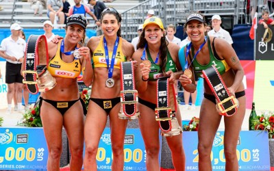 Brazilians celebrate first Major medals